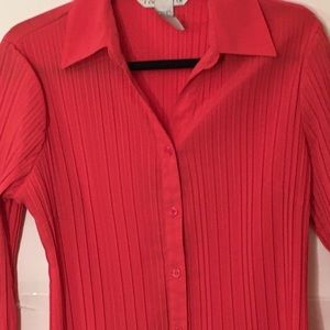 Fred David pleated blouse